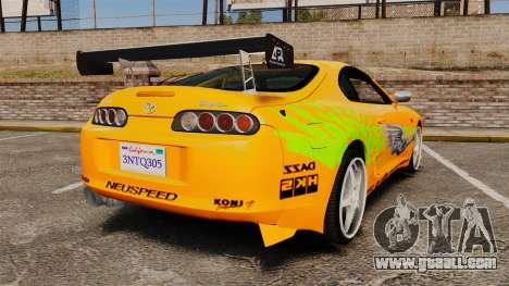 Toyota Supra RZ 1998 (Mark IV) Bomex kit for GTA 4 back left view