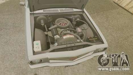 Holden Monaro GTS 1971 for GTA 4 inner view