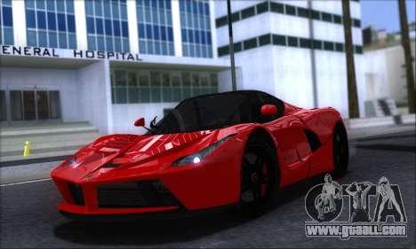 Ferrari LaFerrari v1.0 for GTA San Andreas left view