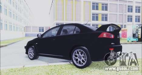 Mitsubishi Lancer Evo X for GTA San Andreas right view