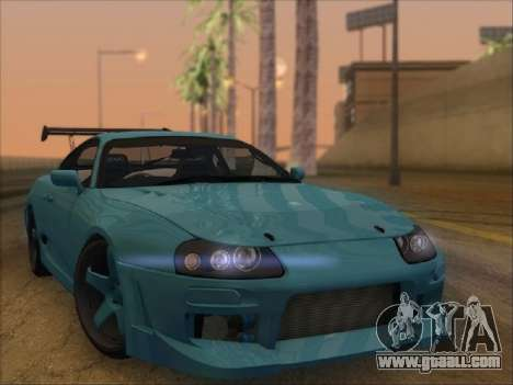 Toyota Supra for GTA San Andreas right view