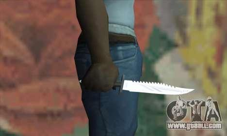 Rambo Knife for GTA San Andreas third screenshot