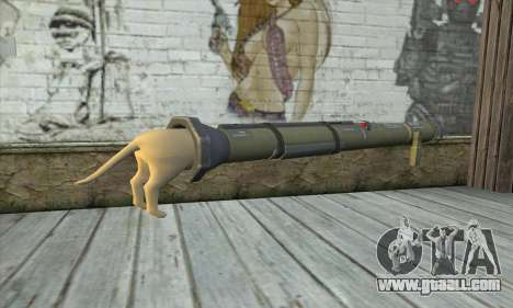 The rocket launcher from Pstal 3 for GTA San Andreas second screenshot