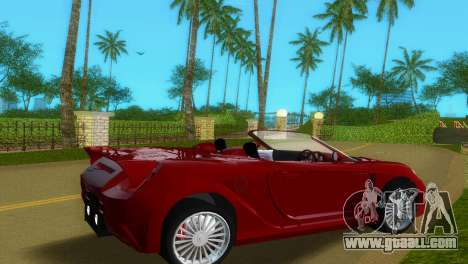 Toyota MR-S Veilside Spider for GTA Vice City back left view