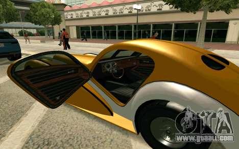 GTA V Z-type for GTA San Andreas back left view