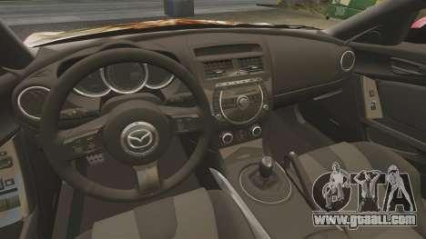 Mazda RX-8 R3 2011 for GTA 4 inner view