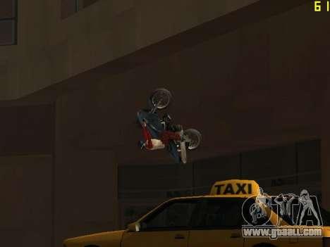 Riding on walls and ceilings v2.0. for GTA San Andreas sixth screenshot