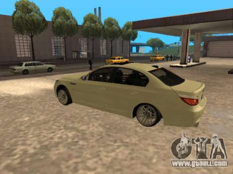 BMW M5 for GTA San Andreas back view