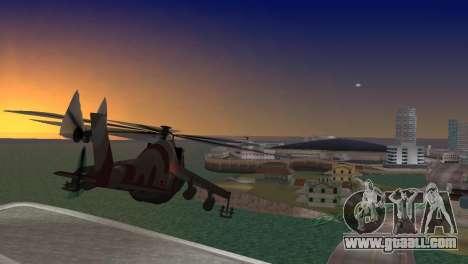 Mi-24 Krokodil for GTA Vice City left view