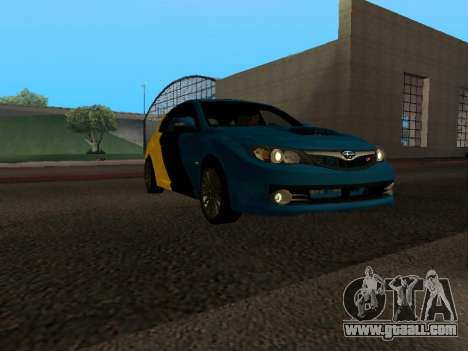 Subaru Impreza STi for GTA San Andreas back view