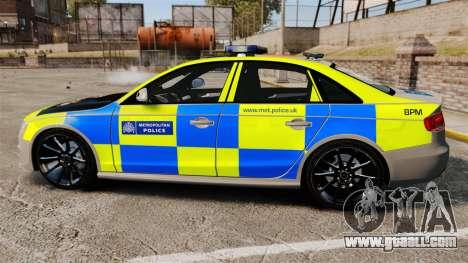 Audi S4 ANPR Interceptor [ELS] for GTA 4 left view