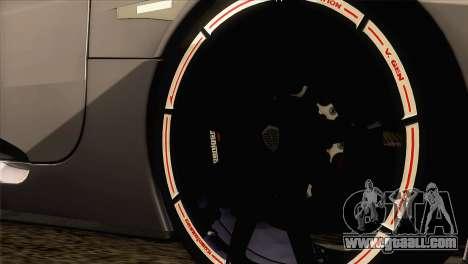 Koenigsegg CCX 2006 Autovista for GTA San Andreas back left view