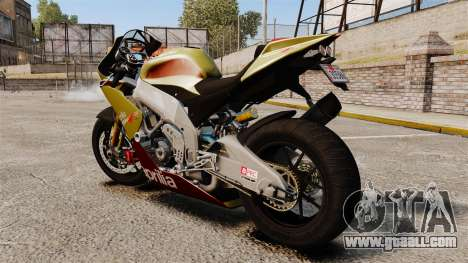 Aprilia RSV4 for GTA 4 left view
