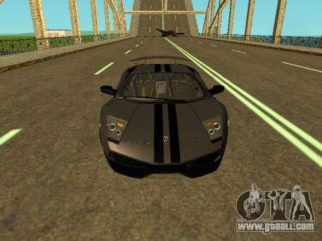 Lamborghini Murcielago LP670-4 SV Team Ravenwest for GTA San Andreas inner view