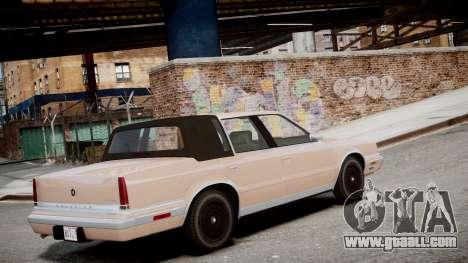Chrysler New Yorker 1988 for GTA 4 left view