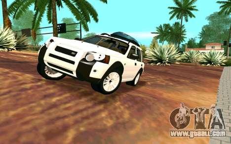 Land Rover Freelander for GTA San Andreas back view