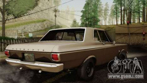 Plymouth Belvedere 2-door Sedan 1965 for GTA San Andreas back view