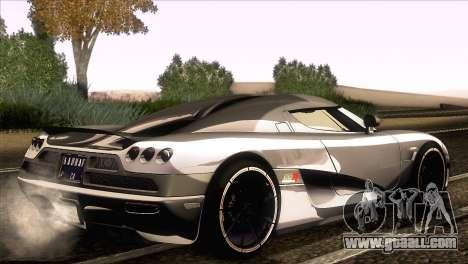 Koenigsegg CCX 2006 Autovista for GTA San Andreas left view