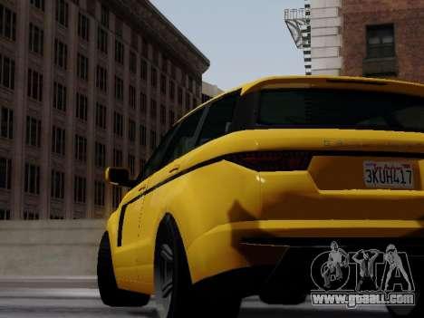 Baller 2 из GTA V for GTA San Andreas back left view
