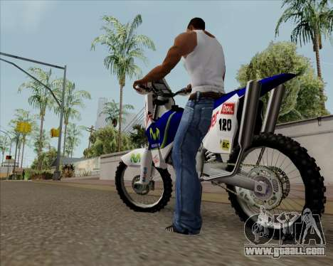 KTM 450 for GTA San Andreas left view