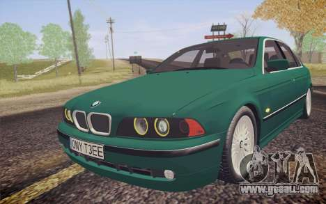 BMW M5 E39 528i Greenoxford for GTA San Andreas back view
