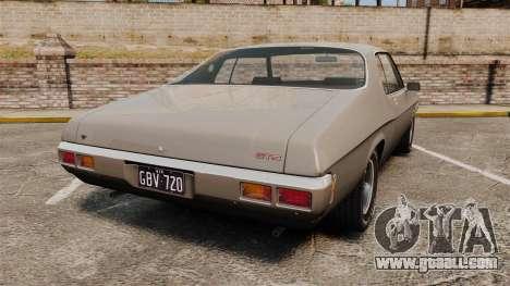 Holden Monaro GTS 1971 for GTA 4 back left view