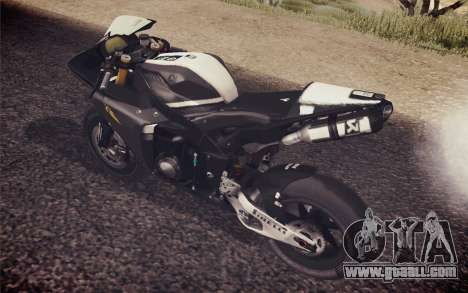 Yamaha YZF R1 2012 Black for GTA San Andreas back left view