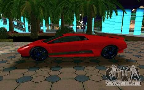 GTA V Pegassi Infernus for GTA San Andreas inner view