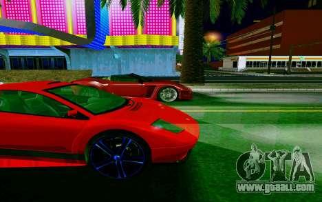 GTA V Pegassi Infernus for GTA San Andreas back view