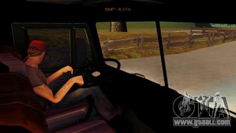 KamAZ 4310 Brevnova for GTA San Andreas inner view