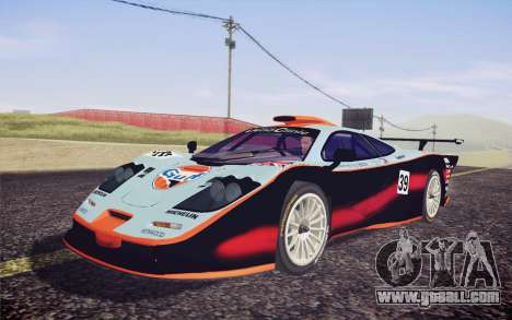 McLaren F1 GTR Longtail 22R for GTA San Andreas side view