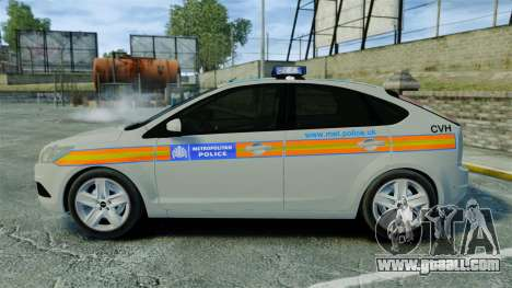 Ford Focus Metropolitan Police [ELS] for GTA 4 left view