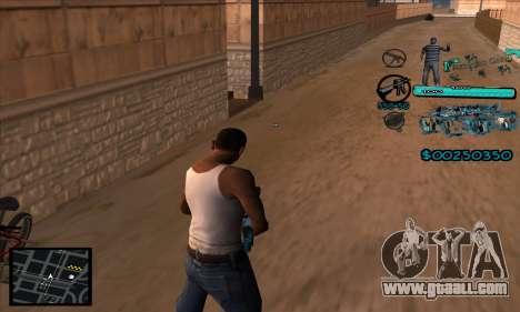 C-HUD Aztecas Gang for GTA San Andreas second screenshot