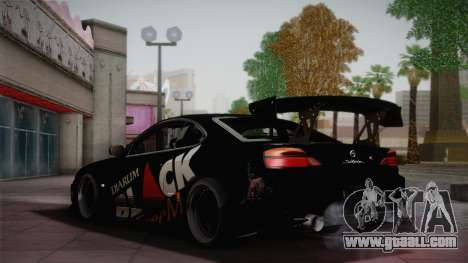 Nissan S15 Street Edition Djarum Black for GTA San Andreas back view