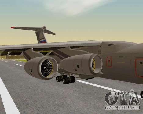 Il-76md-90 (IL-476) for GTA San Andreas back view