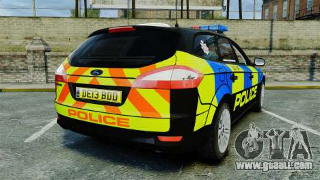 Ford Mondeo Estate Police Dog Unit [ELS] for GTA 4 back left view