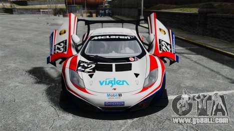 McLaren MP4-12C GT3 for GTA 4 upper view