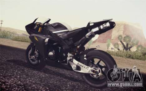 Yamaha YZF R1 2012 Black for GTA San Andreas left view