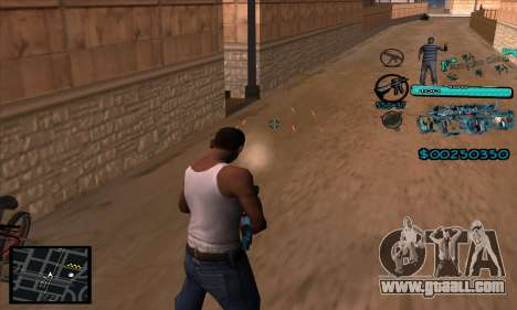 C-HUD Aztecas Gang for GTA San Andreas forth screenshot