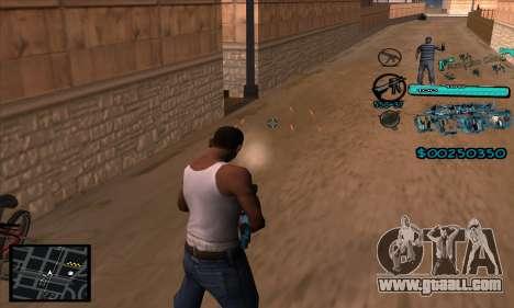 C-HUD Aztecas Gang for GTA San Andreas forth screenshot