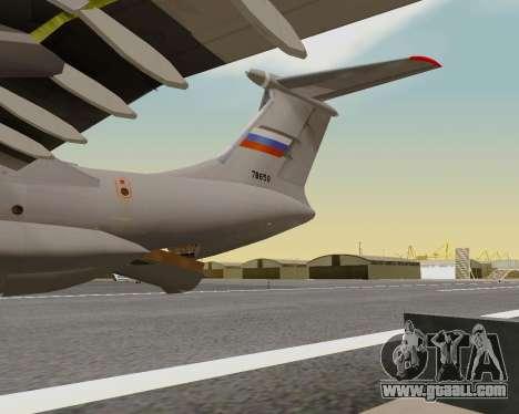 Il-76md-90 (IL-476) for GTA San Andreas upper view