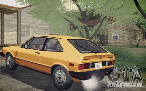 Volkswagen Scirocco S (Typ 53) 1981 IVF for GTA San Andreas back left view