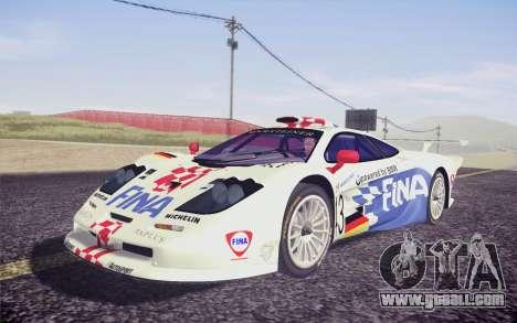 McLaren F1 GTR Longtail 22R for GTA San Andreas back view