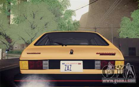 Volkswagen Scirocco S (Typ 53) 1981 IVF for GTA San Andreas upper view