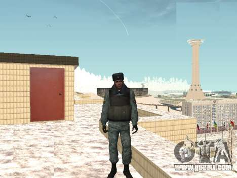 The OMON riot policemen in winter uniform for GTA San Andreas second screenshot
