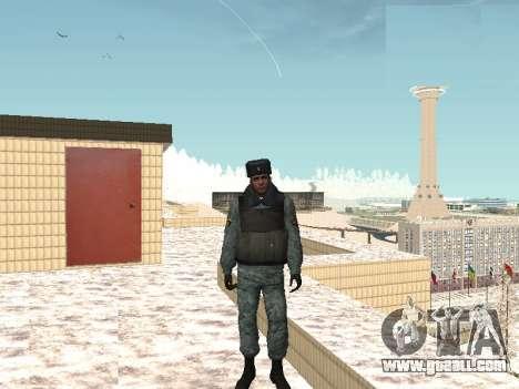 The OMON riot policemen in winter uniform for GTA San Andreas second screenshot
