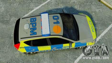 Hyundai i30 Metropolitan Police [ELS] for GTA 4 right view
