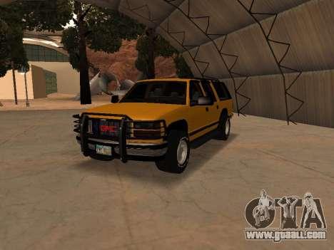 GMC Yukon for GTA San Andreas