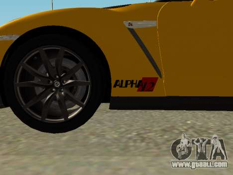Nissan GT-R AMS Alpha 12 for GTA San Andreas back left view