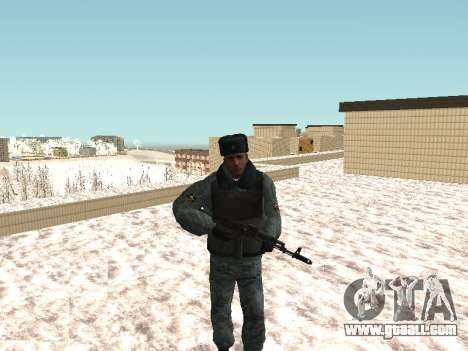 The OMON riot policemen in winter uniform for GTA San Andreas